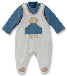 Бебешки комплект - Лео - Гащеризон и блуза -