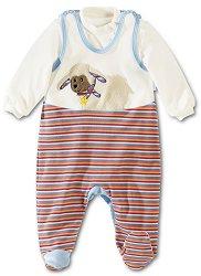 """Бебешки комплект - Гащеризон и блуза от серията """"Stanley"""" -"""