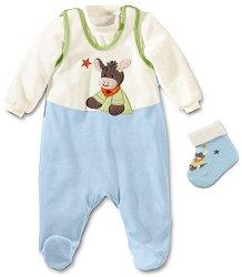Бебешки комплект - Erik - Гащеризон, блуза и чорапи -