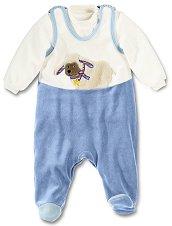 Бебешки комплект - Stanley - Гащеризон и блуза -