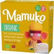 Mamuko - Био безмлечна каша с овес, зелена елда, ечемик, спелта и ръж - Опаковка от 240 g за бебета над 6 месеца -
