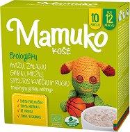 Mamuko - Био безмлечна пълнозърнеста каша с овес, зелена елда, ечемик, спелта и ръж - Опаковка от 240 g за бебета над 12 месеца - биберон