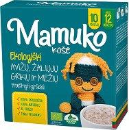 Mamuko - Био безмлечна пълнозърнеста каша с овес, зелена елда и ечемик - Опаковка от 240 g за бебета над 12 месеца - биберон