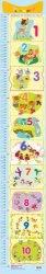 Ръстомер - Цифрите на числата от 1 до 10 - Детски метър за измерване на височина от 60 cm до 150 cm -