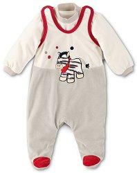 Бебешки комплект - Zebra - Гащеризон и блуза -