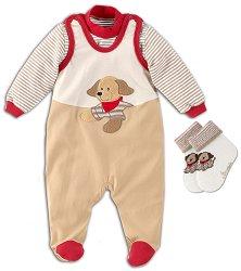 Бебешки комплект - Hanno - Гащеризон, блуза и чорапи -