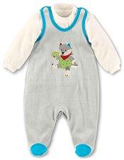 Бебешки комплект - Wilbur - Гащеризон и блуза -