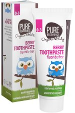 Pure Beginnings Organic Baby Berry Toothpaste - Био бебешка паста за зъби с аромат на малина -