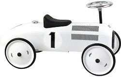 Детска метална четириколка без педали - Бял Винтидж