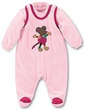 Бебешки комплект - Mabel - Гащеризон и блуза -