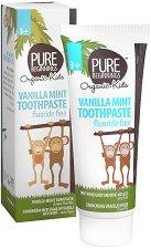 Pure Beginnings Organic Kids Vanilla Mint Toothpaste - Био детска паста за зъби с аромат на ванилия и мента -