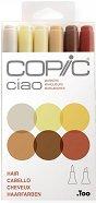 """Двувърхи маркери - Ciao Hair - Комплект от 6 цвята от серията """"Ciao"""""""