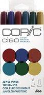 """Двувърхи маркери - Ciao Jewel Tones - Комплект от 6 цвята от серията """"Ciao"""""""