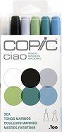 """Двувърхи маркери - Ciao Sea Tones - Комплект от 5 цвята и блендер от серията """"Ciao"""""""