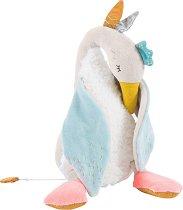"""Гъска - Olga - Плюшена музикална играчка за бебета от серията """"Le voyage de Olga"""" - играчка"""