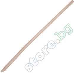 Закривена дървена дръжка за лопата - Размери 130 x ∅ 3.4 cm