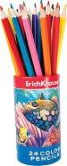 Цветни моливи в тубус - Комплект от 24 цвята