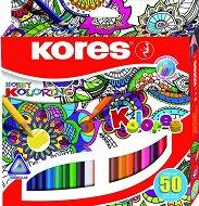 Цветни моливи - Мандала - Комплект от 50 цвята