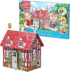 """Къща - Картонен модел за оцветяване и сглобяване от серията """"Art Berry"""" - играчка"""
