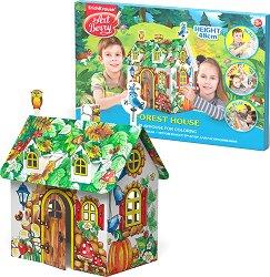 """Горска къща - Картонен модел за оцветяване и сглобяване от серията """"Art Berry"""" - продукт"""