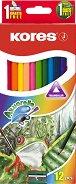 Акварелни моливи - Комплект от 12 или 24 цвята с четка и острилка