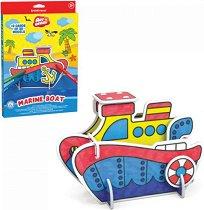 """Лодка - Картонен 3D модел за сглобяване и оцветяване от серията """"Art Berry"""" - играчка"""