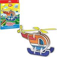 """Хеликоптер - Картонен 3D модел за сглобяване и оцветяване от серията """"Art Berry"""" - играчка"""