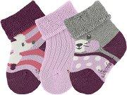Бебешки хавлиени чорапи - Комплект от 3 чифта -