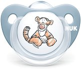 Залъгалка от силикон с ортодонтична форма - Мечо Пух - Комплект с кутия за съхранение за бебета от 6 до 18 месеца -