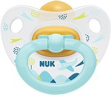 Залъгалка от латекс (естествен каучук) с ортодонтична форма - Happy Kids - Комплект с кутия за съхранение за бебета над 18 месеца -