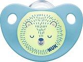 Флуоресцентна залъгалка от силикон с ортодонтична форма - Night & Day - Комплект с кутия за съхранение за бебета над 18 месеца -