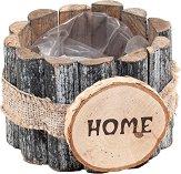 Дървена кашпа - Home