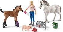 """Ветеринар на визитация - Комплекти фигури и аксесоари от серията """"Животните от фермата"""" - играчка"""