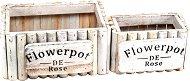 Дървени сандъчета - Flowerpot de Rose - Комплект от 2 броя