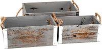 Дървени сандъчета - Garden - Комплект от 3 броя