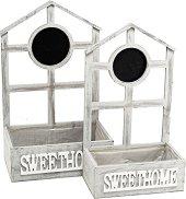 Дървени кашпи - Sweethome - Комплект от 2 броя