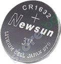 Бутонна батерия CR1632 - Литиева 3V - 1 брой -