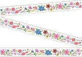 Декоративно тиксо - Цветя - Размери 0.7 cm x 6 m
