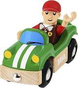 Спортна кола - Дървена играчка - играчка