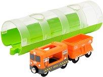 """Товарен влак и тунел - Дървена играчка от серията """"Brio: Влакчета"""" - играчка"""