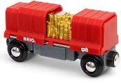 """Товарен вагон - Дървена играчка от серията """"Brio: Вагончета"""" -"""