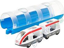 """Пътнически влак и тунел - Дървена играчка от серията """"Brio: Влакчета"""" - играчка"""