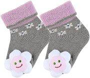 Бебешки чорапи с дрънкалка -