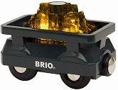 """Вагон за злато - Дървена играчка със светлинни ефекти от серията """"Brio: Вагончета"""" -"""