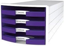 Кутия за документи с 4 чекмеджета - Impuls Trend