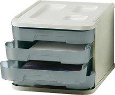 Кутия за документи с 4 чекмеджета - За формат A4 с размери 28.5 / 37.5 / 23 cm