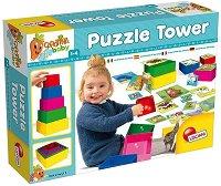Кула с пъзели -  2 в 1 - играчка