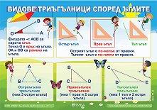 Видове триъгълници: Учебно табло по математика за 3. клас -