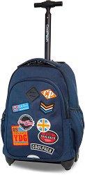 Ученическа раница с колелца - Junior: Badges - раница