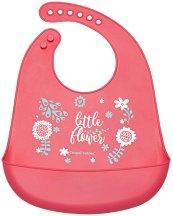"""Бебешки силиконов лигавник с джоб - За бебета над 4 месеца от серията """"Wild Nature"""" - продукт"""